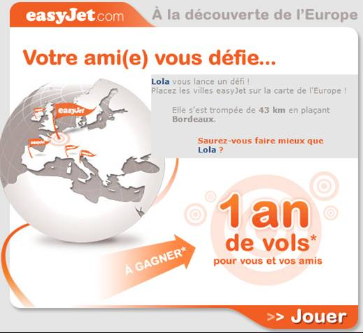 Easy Jet, technique promotionnelle