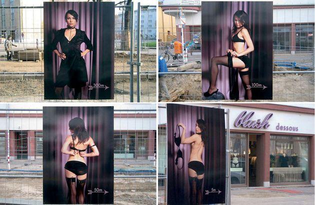 Guérilla marketing, campagne lingerie Blush