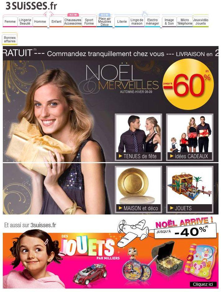 Emails publicitaires Noël 2008 : les choix de la rédaction Marketing-Professionnel.fr. Sources : LeSiteMarketing