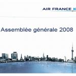 Baromètre des présentations PowerPoint en AG des sociétés du CAC 40 : Air France KLM