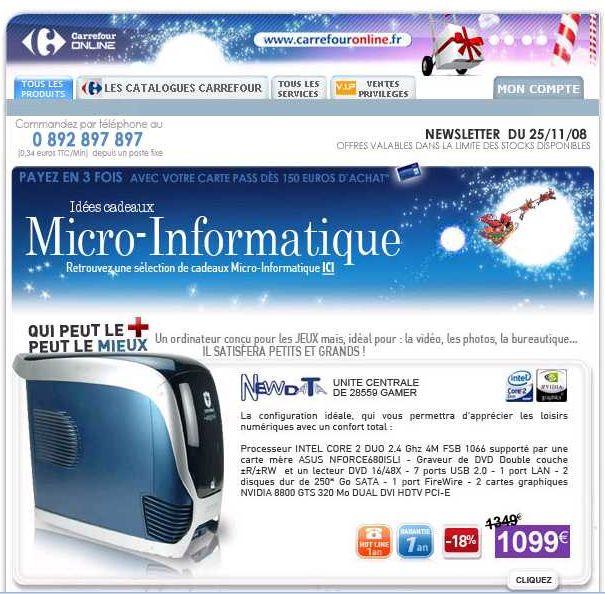 Emails publicitaires Noël 2008 : les choix de la rédaction Marketin-Professionnel.fr. Sources : LeSiteMarketing