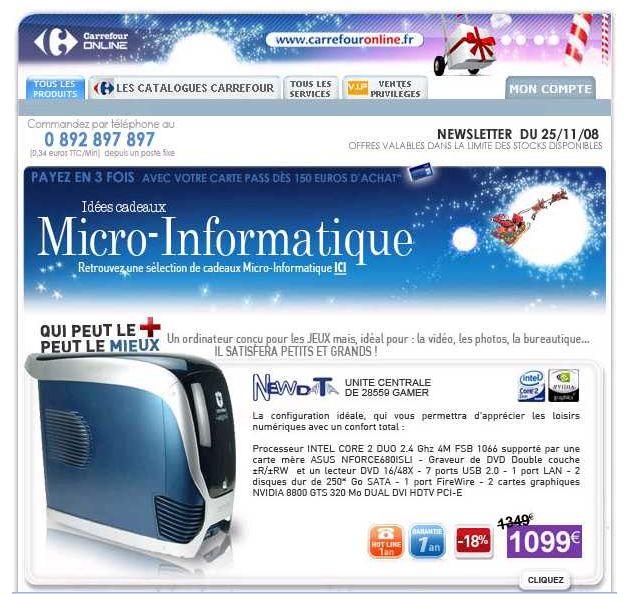 Exclusif Marketing-professionnel.fr ! Emails publicitaires : quoi de neuf pour Noël 2008 ?