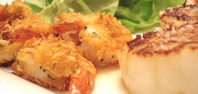 Crevettes aux cornflakes - Source : Maki