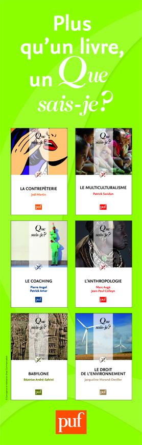 Collection Que Sais-Je, application de la nouvelle charte sur un kakémono