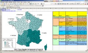 Composition départementale des régions UDA