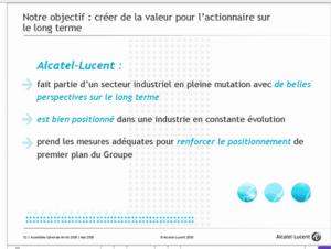 Alcatel-Lucent, MODERNE et VISIONNAIRE