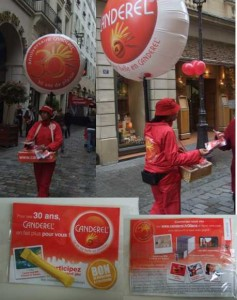 Canderel, street marketing animation