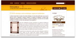 Ethnodeco, blog d'entreprise