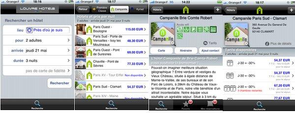L'hôtel Campanile dans la poche avec l'application Iphone