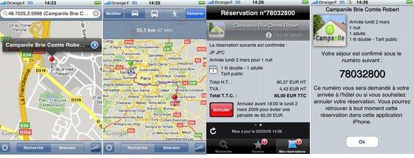 L hôtel Campanile dans la poche avec l application Iphone