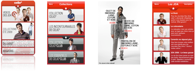 Celio dévoile son application Iphone