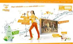 Dove go freshYelle campagne digitale