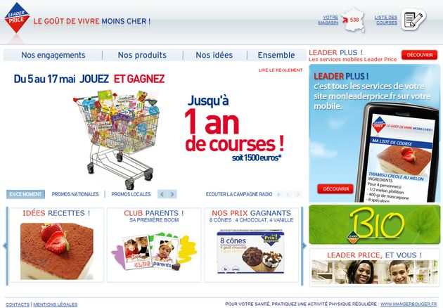 Leader Price déploie son premier programme de marketing relationnel ave The CRM Mobile