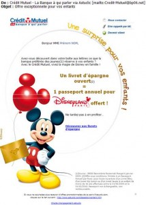 CréditMutuel livret épargne magie Disney