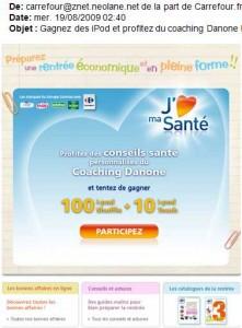 Coaching Danone Carrefour trade CRM Ipod