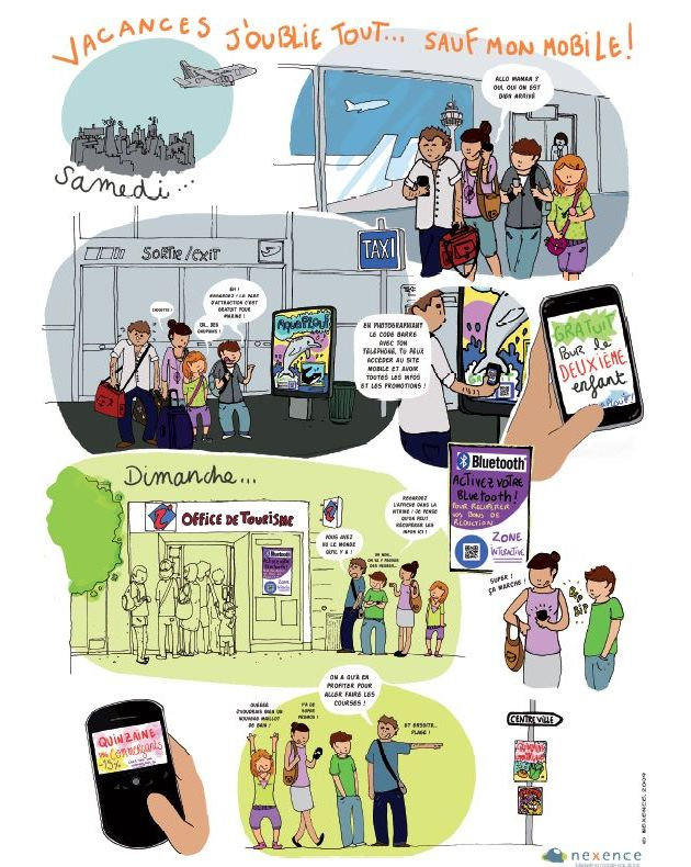 Le Marketing Mobile par la BD : planche 1