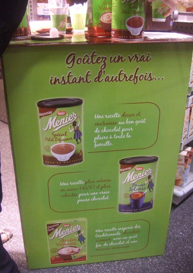 Dégustation de chocolat chaud Menier avec distribution de BR 0,50€ à valoir sur l'achat de Petit déjeuner, Pause intense ou Gouter viennois.