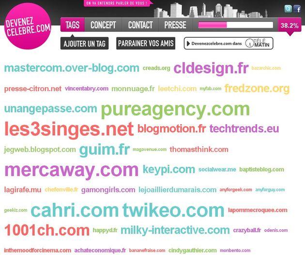 L'objectif de devenezcelebre.com est de rendre accessible aux sites web et aux blogs de particuliers la publicité grande ampleur sur panneaux abribus dans Paris
