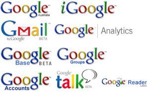 Sous-ensemble du portefeuille de marques de Google
