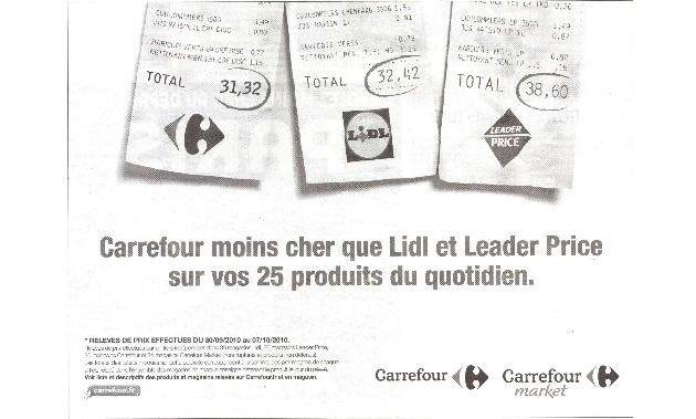 Carrefour arrive à son tour sur le terrain de la pub comparative !
