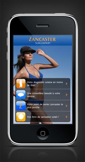 L'agence Care a conçu pour la marque de crème solaire Lancaster la première application iPhone de diagnostic solaire et son dispositif de communication.