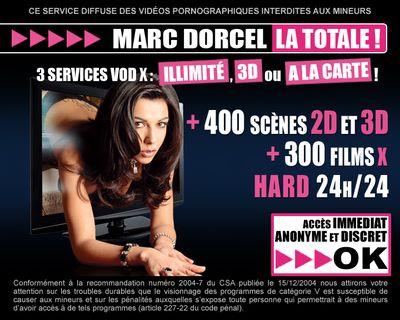 Marc Dorcel VOD 3D sur Free : écran d accueil