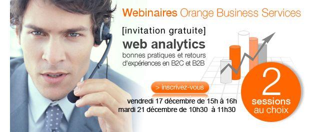 Webinaire gratuit : Web analytics : bonnes pratiques et retours d'expériences en B2C et BCB