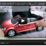 Une application permet de personnaliser sa Golf Cabriolet en totale mobilité et de visualiser la voiture en concession.