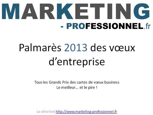 Préférence Palmarès 2013 des cartes de voeux numériques professionnelles  TY87