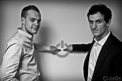 Baptiste Brunin (à G) et Pierre Figeat (à D) co-fondateurs de Clickon