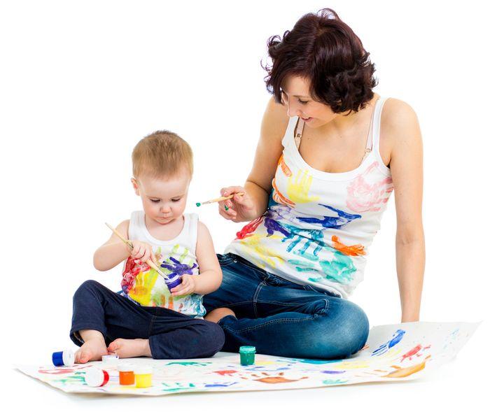 Marché de la garde d'enfants et baby sitting
