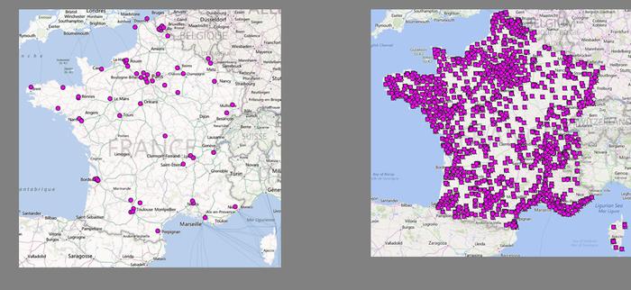La couverture click & drive entre 2010 et 2014. Source : Nielsen TradeDimensions