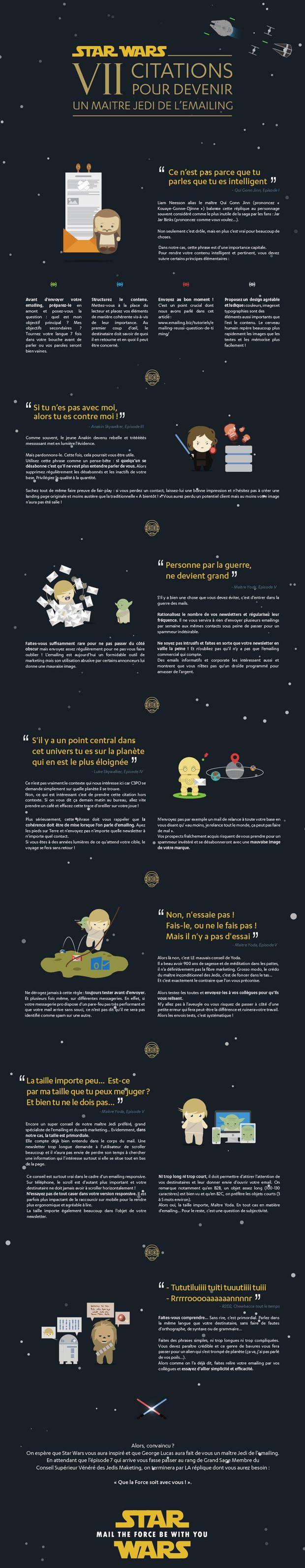 Marketeurs, utilisateurs de l'email marketing, apprenez sur votre univers... en rentrant dans celui de George Lucas !