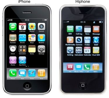 Hi-Phone, copie d'un Iphone, mais avec une batterie facilement changeable