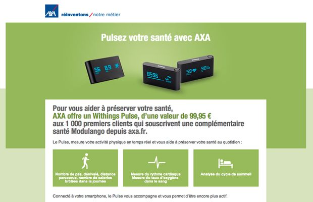 axa withings pulse iot