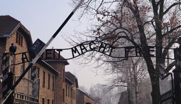 """""""Arbeit macht frei"""" et """"un tour gratuit"""" ; la paille barrière"""