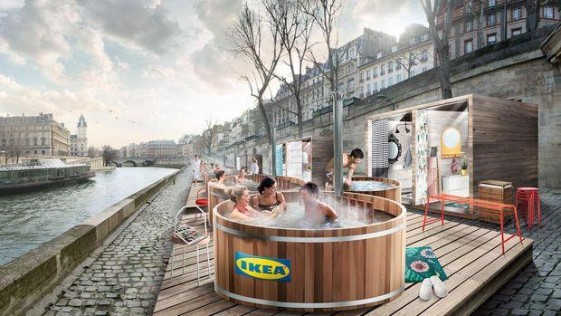 IKEA sur le devant de la Seine
